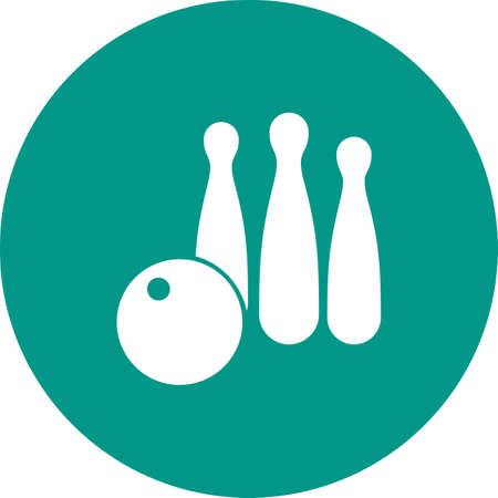 alleys: Ball, bowling, pins icon vector image. Can also be used for hotel and restaurant. Suitable for web apps, mobile apps and print media.