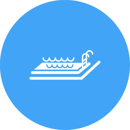 hotel pool: Pool, swimming, hotel icon vector image.Can also be used for hotel and restaurant. Suitable for mobile apps, web apps and print media.