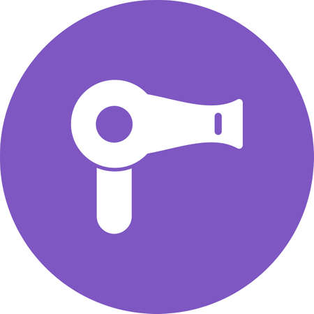 blow drier: Dryer, hair, blow icon vector image. Can also be used for barbers tools. Suitable for use on web apps, mobile apps and print media. Illustration