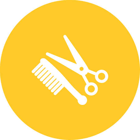 scissors comb: Scissors, comb, hair icon vector image.Can also be used for barbers tools. Suitable for mobile apps, web apps and print media.