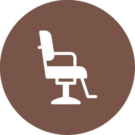 Chair, barber, salon icon vector image. Can also be used for barbers tools. Suitable for use on web apps, mobile apps and print media. Illustration