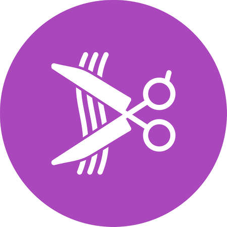 hair cutting: Hair, cutting, cut icon vector image.Can also be used for barbers tools. Suitable for mobile apps, web apps and print media. Illustration