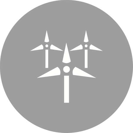 wind farm: Windmills, wind, farm icon vector image.Can also be used for ecology. Suitable for mobile apps, web apps and print media.