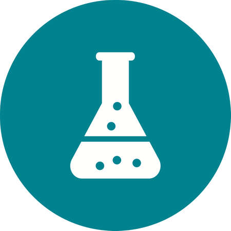 enviroment: Chemistry, research, flask icon vector image.Can also be used for ecology. Suitable for mobile apps, web apps and print media.