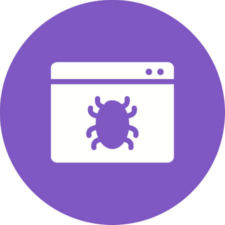 web crawler: Browser, crawler, search icon vector image. Can also be used for seo and development services. Suitable for use on web apps, mobile apps and print media.