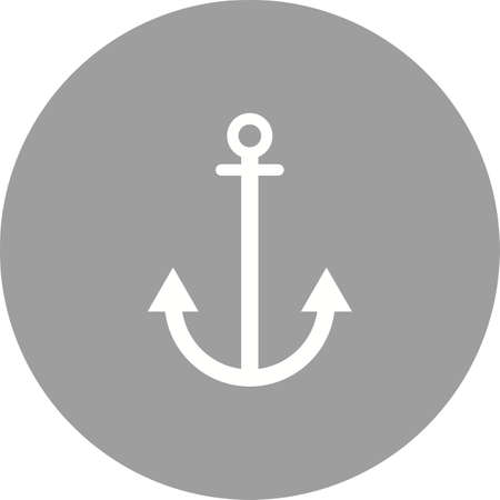 bulding: Anchor, link bulding icon vector image. Can also be used for seo and development services. Suitable for use on web apps, mobile apps and print media.