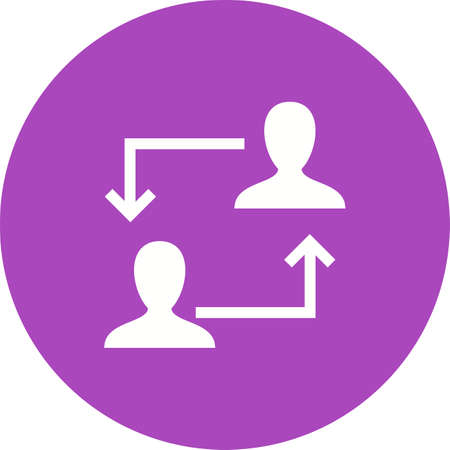 consultants: Consulting, strategy, meeting icon vector image. Can also be used for seo and development services. Suitable for use on web apps, mobile apps and print media.