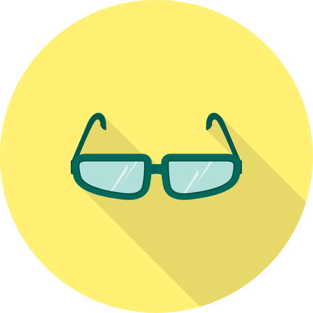 eye glasses: Glasses, eye, design icon vector image. Can also be used for fitness and sports. Suitable for web apps, mobile apps and print media. Illustration