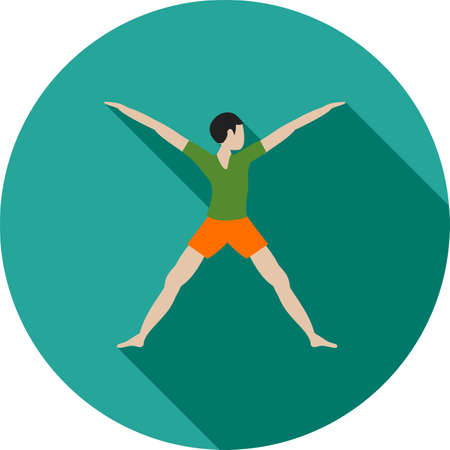 aerobics class: Aerobics, class, fitness icon vector image. Can also be used for fitness and sports. Suitable for web apps, mobile apps and print media.