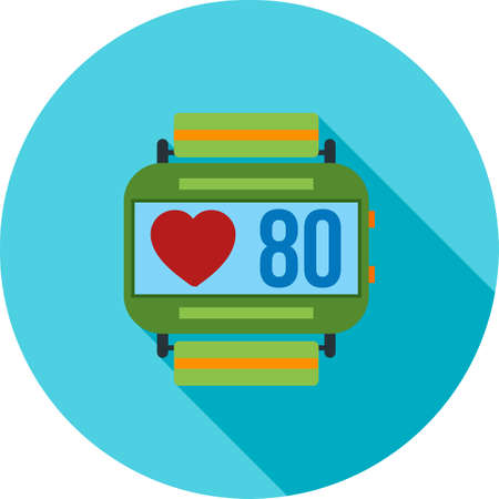 heart monitor: Heart, rate, monitor icon vector image. Can also be used for fitness and sports. Suitable for web apps, mobile apps and print media.