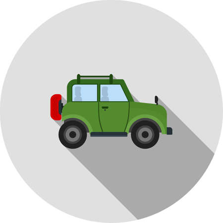 jeep: Safari, jeep, desert icon vector image. Can also be used for camping. Suitable for web apps, mobile apps and print media.