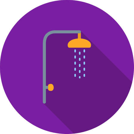 cleanliness: Shower, hair, bath icon vector image. Can also be used for camping. Suitable for use on web apps, mobile apps and print media.