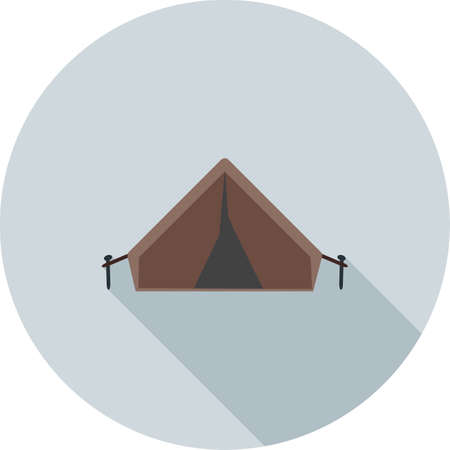 northern light: Camping, tent, lights icon vector image. Can also be used for camping. Suitable for web apps, mobile apps and print media.