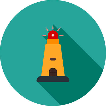 afterglow: Lighthouse, light, beacon icon vector image.Can also be used for camping . Suitable for mobile apps, web apps and print media.