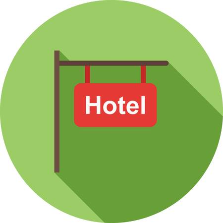 hotel lobby: Hotel, service, business icon vector image.Can also be used for housing. Suitable for mobile apps, web apps and print media.