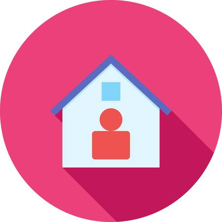 residence: Residence, home, modern icon vector image.Can also be used for housing. Suitable for mobile apps, web apps and print media.