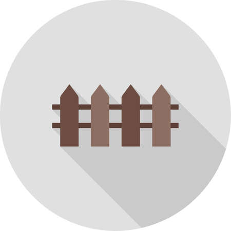 garden wall: Fence, wooden, boundary icon vector image.Can also be used for housing. Suitable for mobile apps, web apps and print media.