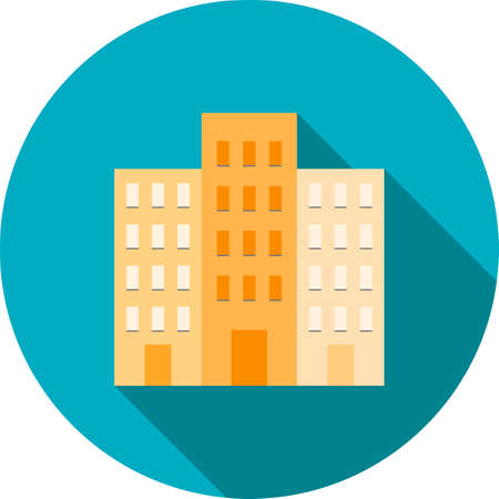 plaza: Commercial, plaza, business icon vector image.Can also be used for housing. Suitable for mobile apps, web apps and print media. Illustration