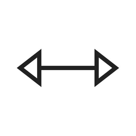 left right: Arrow, left, right icon vector image. Can also be used for arrows. Suitable for mobile apps, web apps and print media.