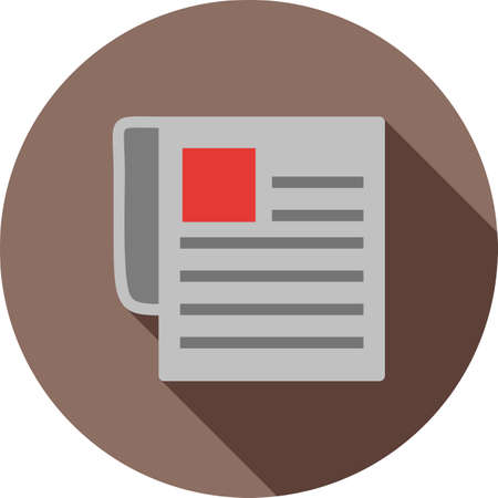 print media: Newspaper, news paper, network icon vector image. Can also be used for IT and communication. Suitable for web apps, mobile apps and print media. Illustration