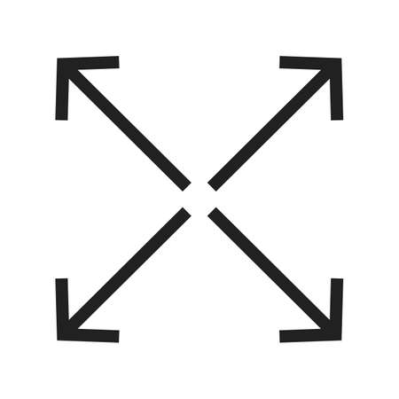 full size: Full, extend, display  icon vector image. Can also be used for arrows. Suitable for mobile apps, web apps and print media.