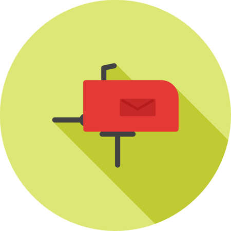 invoices: Post, letterbox, letter icon vector image. Can also be used for IT and communication. Suitable for use on web apps, mobile apps and print media. Illustration