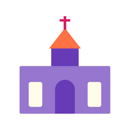 church interior: Church, building, religion icon vector image.Can also be used for building and landmarks . Suitable for mobile apps, web apps and print media.