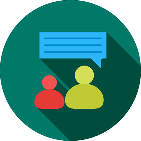 mobile communication: Talking, people, representative icon vector image. Can also be used for IT and communication. Suitable for web apps, mobile apps and print media. Illustration