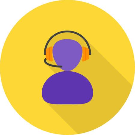 media center: Call, center, operator icon vector image. Can also be used for IT and communication. Suitable for web apps, mobile apps and print media.