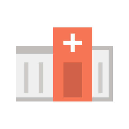 emergency room: Emergency, room, hospital icon vector image.Can also be used for building and landmarks . Suitable for mobile apps, web apps and print media.