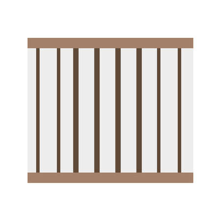jail cell: Prison, bars, jail icon vector image.Can also be used for building and landmarks . Suitable for mobile apps, web apps and print media. Illustration