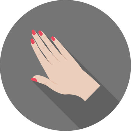 manicure pink: Manicure, nails, polish icon vector image.Can also be used for makeup and accessories. Suitable for web apps, mobile apps and print media.