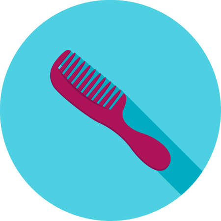 Hairbrush, comb, brush icon vector image. Can also be used for makeup and accessories. Suitable for web apps, mobile apps and print media.
