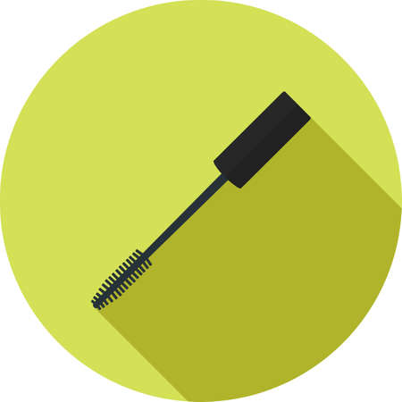 make up applying: Mascara, makeup, brush icon vector image. Can also be used for makeup and accessories. Suitable for web apps, mobile apps and print media.
