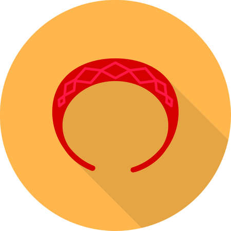 rubber band: Hair, band, rubber icon vector image. Can also be used for makeup and accessories. Suitable for web apps, mobile apps and print media.