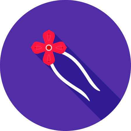 hair pins: Hair, pin, clip icon vector image. Can also be used for makeup and accessories. Suitable for use on mobile apps, web apps and print media.