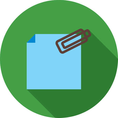 attachment: Attachment, business, web icon vector image. Can also be used for business management. Suitable for use on web apps, mobile apps and print media.