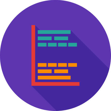 gantt: Gantt, project, chart icon vector image. Can also be used for business management. Suitable for use on web apps, mobile apps and print media.
