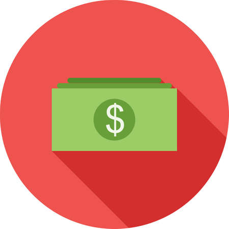 market value: Money, cash, currency icon vector image. Can also be used for business management. Suitable for use on web apps, mobile apps and print media. Illustration