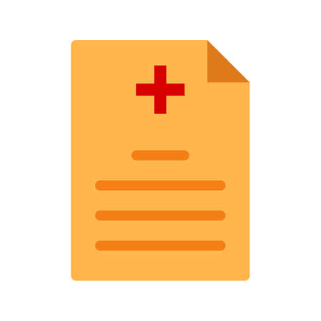 insurance claim: Medical, report, doctor icon vector image. Can also be used for healthcare and science. Suitable for use on web apps, mobile apps and print media. Illustration