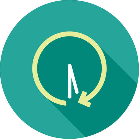 back in an hour: History, return, past icon vector image. Can also be used for material design. Suitable for use on web apps, mobile apps and print media.