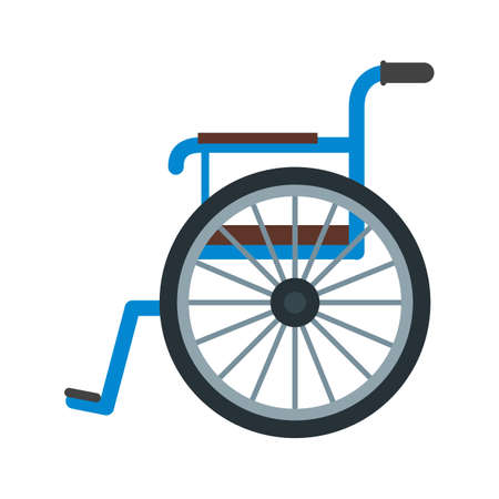 single seat: Wheel, chair, physical icon vector image. Can also be used for healthcare and science. Suitable for use on web apps, mobile apps and print media.