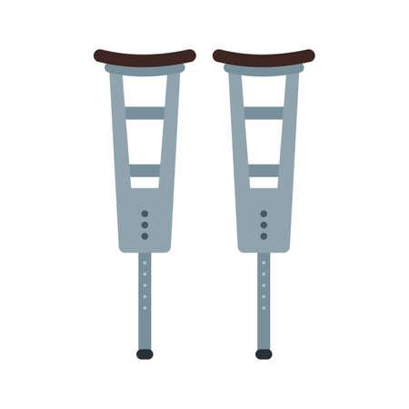 杖、松葉杖、ウォーカーのアイコン ベクトル画像。  イラスト・ベクター素材