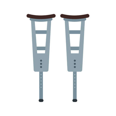 Crutches, crutch, walker icon vector image. 向量圖像