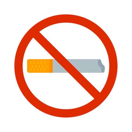 interdiction: Smoking,  addiction, tobacco icon vector image.