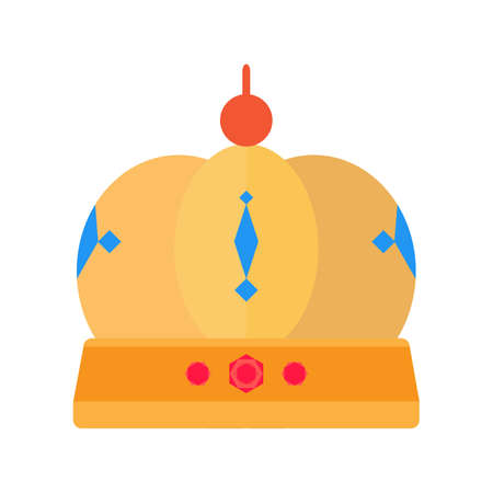 beauty queen: Crown, princess, king icon vector image. Can also be used for objects. Suitable for web apps, mobile apps and print media.