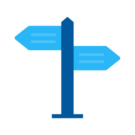 guide board: Sign, post, direction icon vector image. Can also be used for objects. Suitable for web apps, mobile apps and print media. Illustration