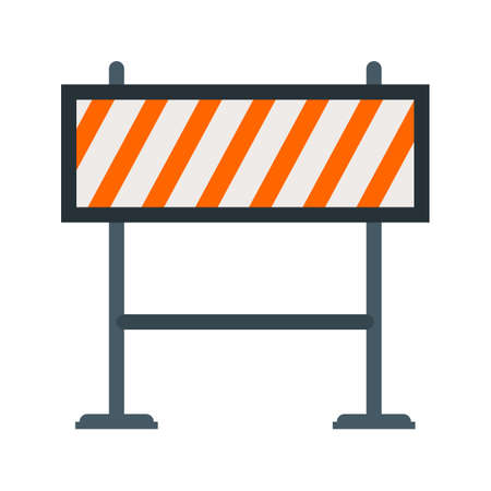 hazard stripes: Barricade, warning, barrier icon vector image. Can also be used for objects. Suitable for web apps, mobile apps and print media. Illustration