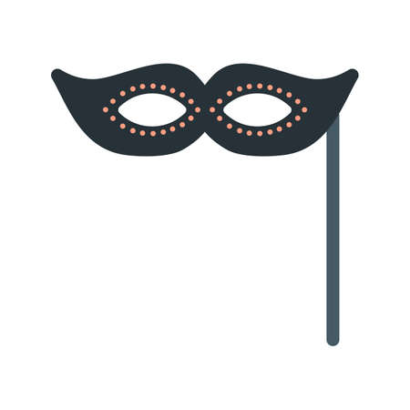 face mask: Mask, carnival, face icon vector image. Can also be used for objects. Suitable for web apps, mobile apps and print media.