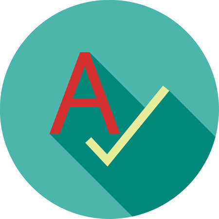 Spell, check, spellcheck icon vector image. Can also be used for material design. Suitable for web apps, mobile apps and print media.
